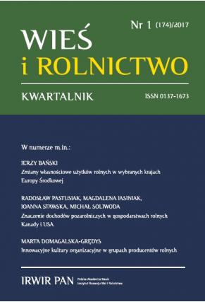 2017 WIEŚ I ROLNICTWO <br>t. 174, nr 1