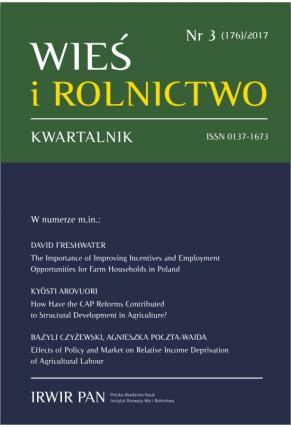 2017 WIEŚ I ROLNICTWO <br>t. 176, nr 3