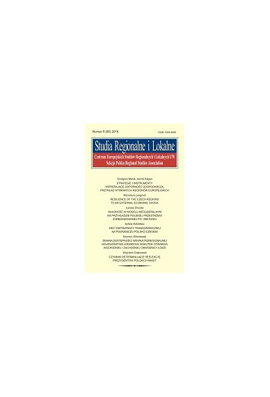 2017 STUDIA REGIONALNE I LOKALNE, NR 1 (67) <br> Uwaga! Do kupienia także w PDFie
