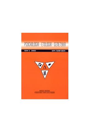 2002  PSYCHOLOGIA - ETOLOGIA - GENETYKA , t. 5