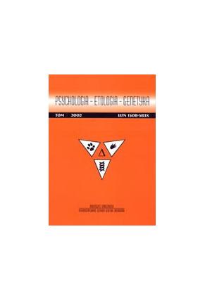 2002  PSYCHOLOGIA - ETOLOGIA - GENETYKA , t. 6