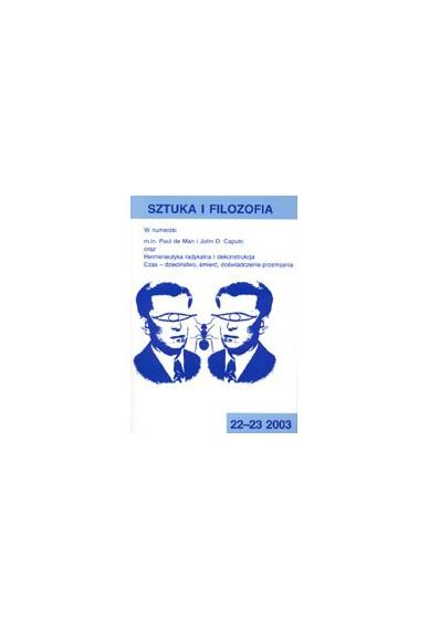 2003 SZTUKA I FILOZOFIA <br>t. 22- 23