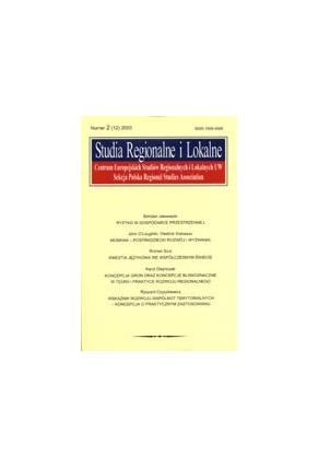 2003 STUDIA REGIONALNE I LOKALNE nr 3(13)