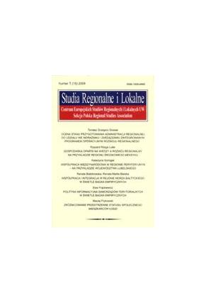 2004 STUDIA REGIONALNE I LOKALNE nr 1(15)