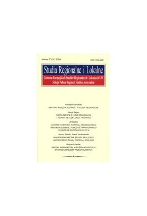 2004 STUDIA REGIONALNE I LOKALNE nr 2(16)