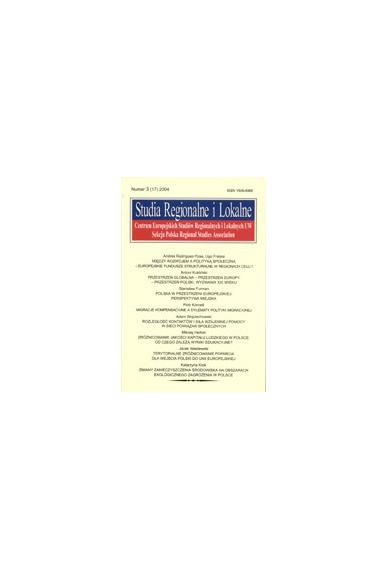 2004 STUDIA REGIONALNE I LOKALNE nr 3(17)