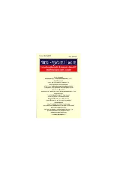 2005 STUDIA REGIONALNE I LOKALNE nr 1(19)
