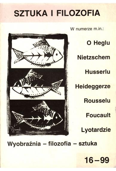 1999 SZTUKA I FILOZOFIA nr 16