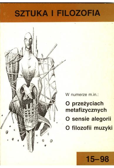 1998 SZTUKA I FILOZOFIA nr 15