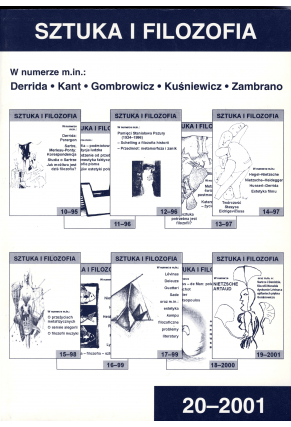 2001 SZTUKA I FILOZOFIA nr 20