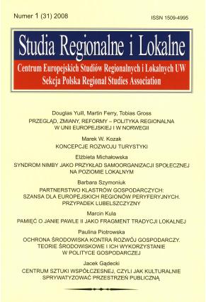 2008 STUDIA REGIONALNE I LOKALNE, nr 1 (31) <br>UWAGA! Periodyk do kupienia także w PDFie!
