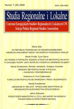 2009 STUDIA REGIONALNE I LOKALNE, nr 1 (35)