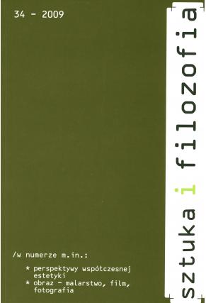 2009 SZTUKA I FILOZOFIA, t. 34 <br>UWAGA!!! Do kupienia także w PDFie