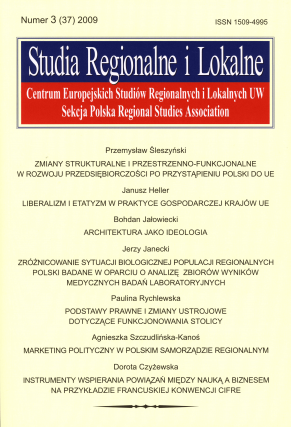 2009 STUDIA REGIONALNE I LOKALNE, nr 3 (37)