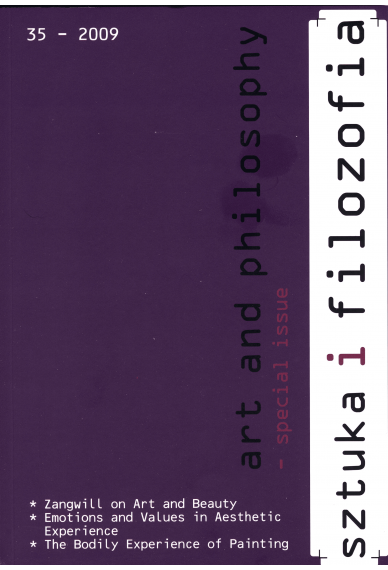 2009 SZTUKA I FILOZOFIA, t. 35 <br>special issue