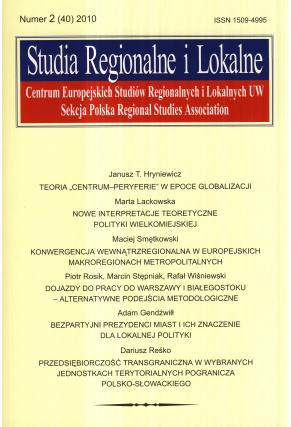 2010 STUDIA REGIONALNE I LOKALNE, nr 2 (40) <br>UWAGA! Do nabycia także w PDFie