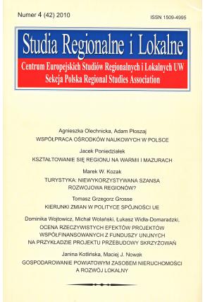 2010 STUDIA REGIONALNE I LOKALNE, nr 4 (42) <br>UWAGA! Do nabycia także w PDFie