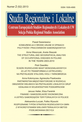2013 STRUDIA REGIONALNE I LOKALNE, nr 2 (52) <br>Uwaga! Do kupienia także w PDFie