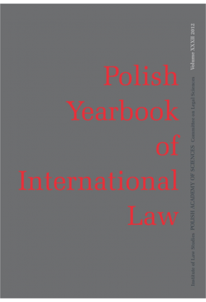 2012 POLISH YEARBOOK OF INTERNATIONAL LAW <br>vol. XXXII