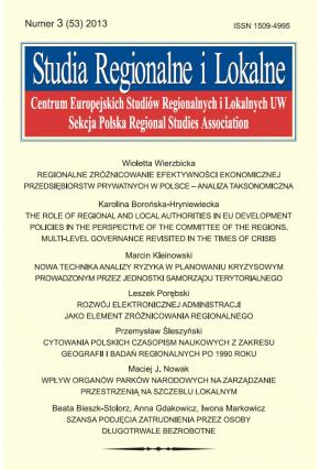 2013 STUDIA REGIONALNE I LOKALNE, nr 3 (53) <br>Uwaga! Do kupienia także w PDFie