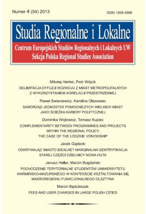 2013 STUDIA REGIONALNE I LOKALNE, NR 4(54) <BR>Uwaga! do kupienia także w PDFie
