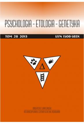 2013 PSYCHOLOGIA – ETOLOGIA – GENETYKA <br>t. 28 <br>Uwaga! Do kupienia także w PDFie!