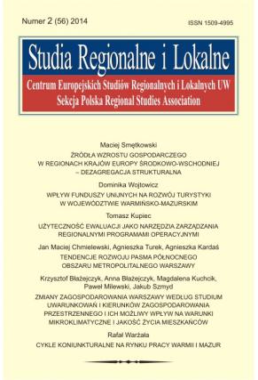 2014 STUDIA REGIONALNE I LOKALNE, NR 2 (56) <br>Uwaga! Do kupiena także w PDFie