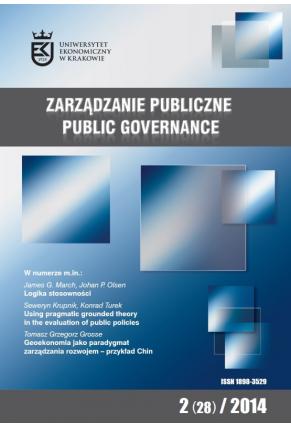 2014 ZARZĄDZANIE PUBLICZNE <br>nr 2 (28)  <br>Uwaga! Do kupienia takze w PDFie