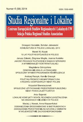 2014 STUDIA REGIONALNE I LOKALNE, NR 4 (58) <br>Uwaga! Do kupienia także w PDFie