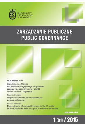 2015 ZARZĄDZANIE PUBLICZNE <br> nr 1 (31) <br>Uwaga! Do kupienia także w PDFie