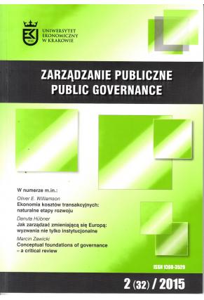 2015 ZARZĄDZANIE PUBLICZNE <br> nr 2 (32) <br>Uwaga! Do kupienia także w PDFie