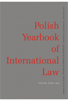 2014 POLISH YEARBOOK OF INTERNATIONAL LAW <br>vol. XXXIV