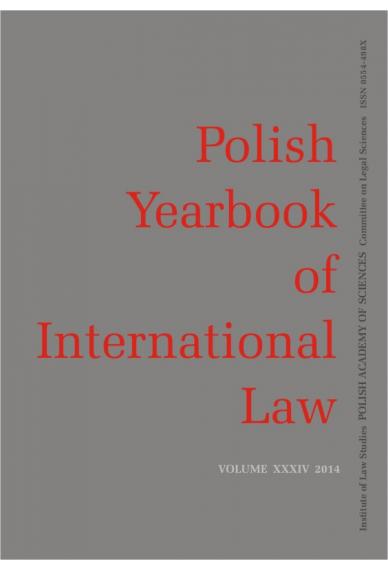 2014 POLISH YEARBOOK OF INTERNATIONAL LAW <br>vol. XXXIV