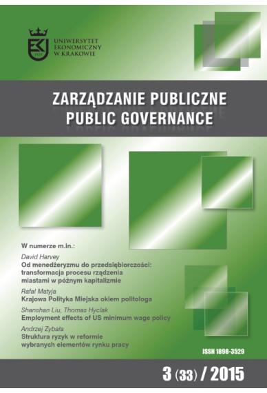 2015 ZARZĄDZANIE PUBLICZNE <br> nr 3 (33) <br>Uwaga! Do kupienia także w PDFie