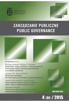 2015 ZARZĄDZANIE PUBLICZNE <br> nr 4 (34) <br>Uwaga! Do kupienia także w PDFie