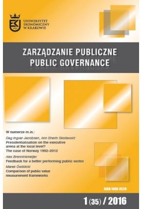 2016 ZARZĄDZANIE PUBLICZNE <br> nr 1 (35) <br>Uwaga! Do kupienia także w PDFie
