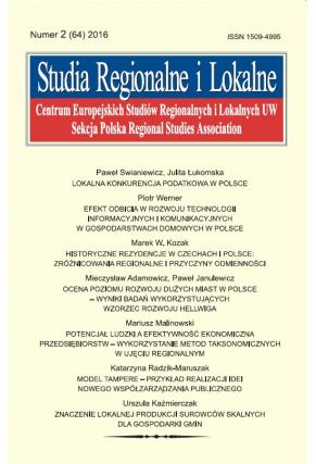 2016 STUDIA REGIONALNE I LOKALNE, NR 2 (64) <br> Uwaga! Do kupienia także w PDFie