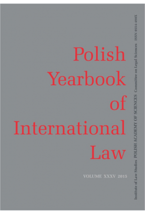2015 POLISH YEARBOOK OF INTERNATIONAL LAW <br>vol. XXXV