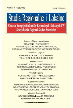 2016 STUDIA REGIONALNE I LOKALNE, NR 4 (66) <br> Uwaga! Do kupienia także w PDFie