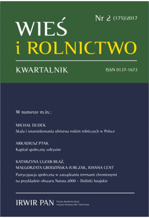 2017 WIEŚ I ROLNICTWO <br>t. 175, nr 2