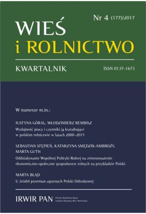 2017 WIEŚ I ROLNICTWO <br>t. 177, nr 4