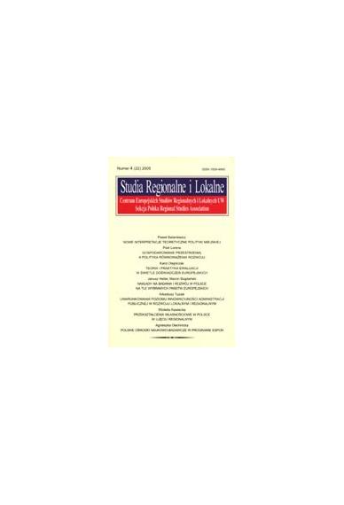 2005 STUDIA REGIONALNE I LOKALNE nr 4(22)