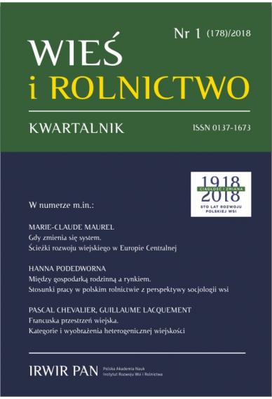 2018 WIEŚ I ROLNICTWO <br>t. 178, nr 1<br>UWAGA, do kupienia także w PDFie!
