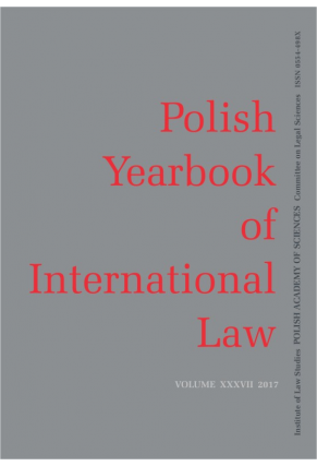2017  POLISH YEARBOOK OF INTERNATIONAL LAW <br>vol. XXXVII