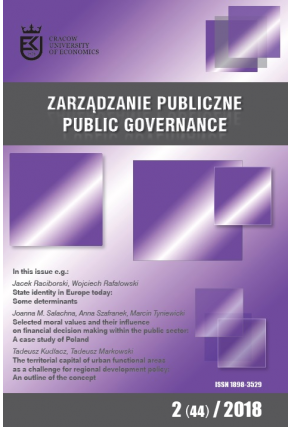 2018 ZARZĄDZANIE PUBLICZNE <br> nr  2 (44) <br>Uwaga! Do kupienia także w PDFie