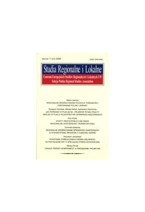 2006 STUDIA REGIONALNE I LOKALNE nr 1 (23) <br>UWAGA!!! Do kupienia także w PDFie