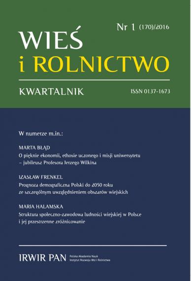 2016 WIEŚ I ROLNICTWO <br>t. 170, nr 1