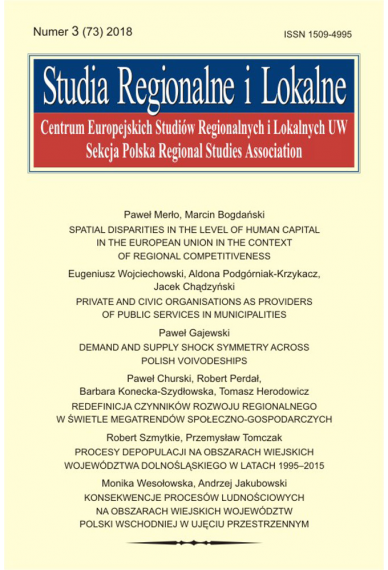 2018 STUDIA REGIONALNE I LOKALNE, NR 3 (73) <br> Uwaga! Do kupienia także w PDFie