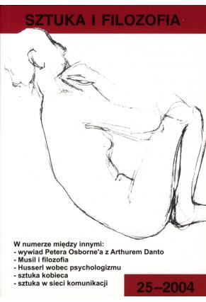 2004 SZTUKA I FILOZOFIA t. 25