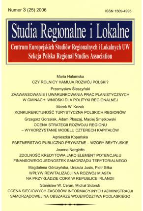 2006 STUDIA REGIONALNE I LOKALNE nr 3 (25) <br>UWAGA!!! Do kupienia także w PDFie